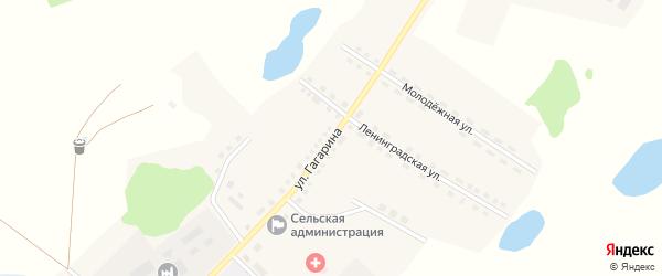 Улица Гагарина на карте Рыбного села с номерами домов