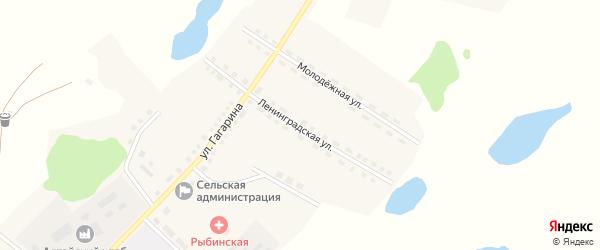 Ленинградская улица на карте Рыбного села с номерами домов