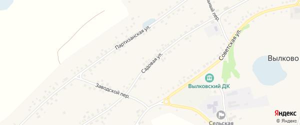 Садовая улица на карте села Вылково с номерами домов