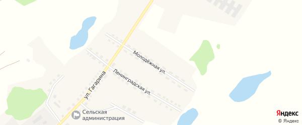 Молодежная улица на карте Рыбного села с номерами домов