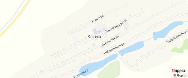 Задубравная улица на карте села Ключи с номерами домов