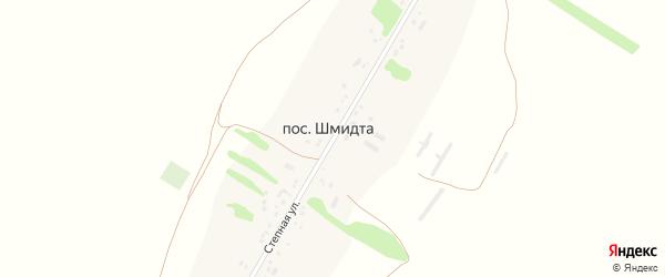 Степная улица на карте поселка Шмидта с номерами домов