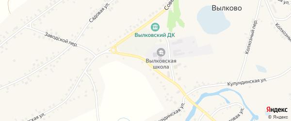 Заводской переулок на карте села Вылково с номерами домов