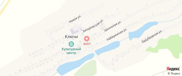 Школьная улица на карте села Ключи с номерами домов