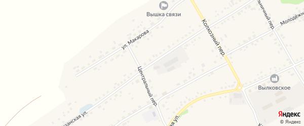 Партизанская улица на карте села Вылково с номерами домов