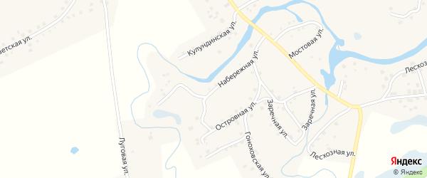 Набережная улица на карте села Вылково с номерами домов