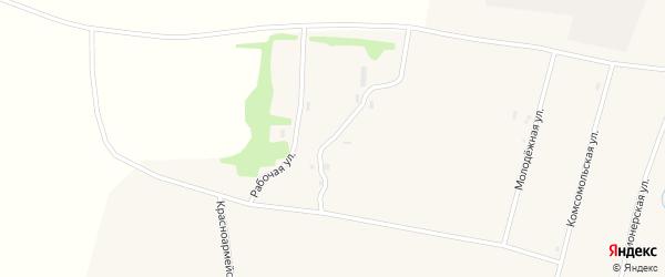 Рабочая улица на карте села Покровки с номерами домов