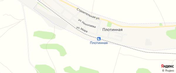 Карта Плотинной станции города Камня-на-Оби в Алтайском крае с улицами и номерами домов