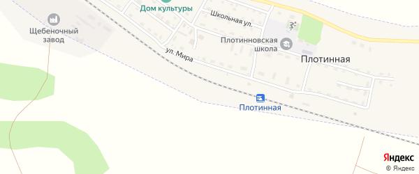 Школьная улица на карте Плотинной станции с номерами домов