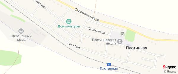 Улица Николаева на карте Плотинной станции с номерами домов