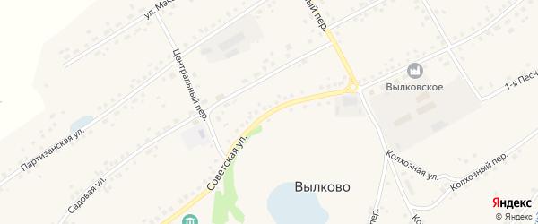 Советская улица на карте села Вылково с номерами домов