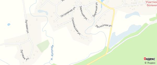 Гоноховская улица на карте села Вылково с номерами домов