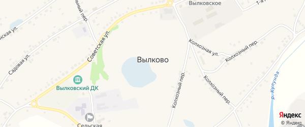 Луговая улица на карте села Вылково с номерами домов