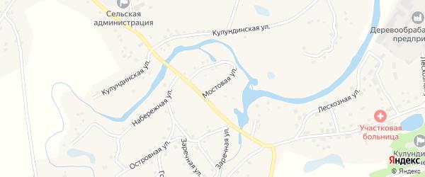 Мостовая улица на карте села Вылково с номерами домов