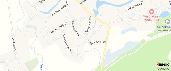 Заречная улица на карте села Вылково с номерами домов