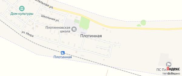 Горная улица на карте Плотинной станции с номерами домов