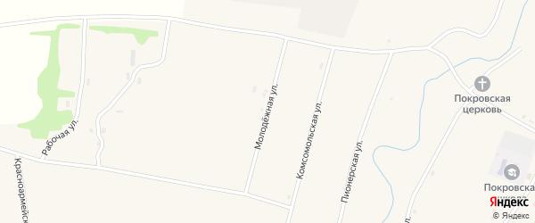 Молодежная улица на карте села Покровки с номерами домов