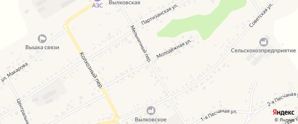 Молодежная улица на карте села Вылково с номерами домов