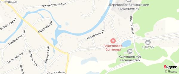 Лесхозная улица на карте села Вылково с номерами домов