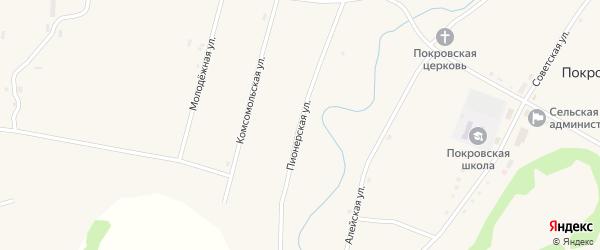 Пионерская улица на карте села Покровки с номерами домов