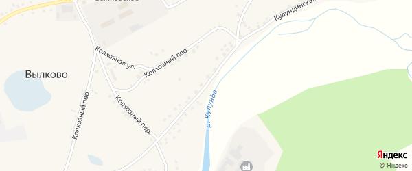 Кулундинская улица на карте села Вылково с номерами домов