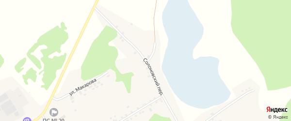 Солоновский переулок на карте села Вылково с номерами домов