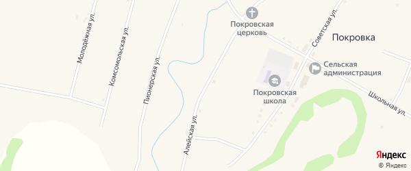 Алейская улица на карте села Покровки с номерами домов