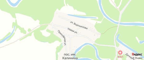 Новая улица на карте поселка им Калинина с номерами домов
