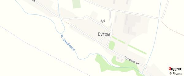 Луговая улица на карте поселка Бугры с номерами домов