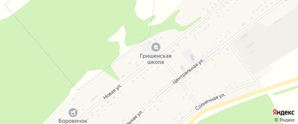 Новая улица на карте Гришенское села с номерами домов