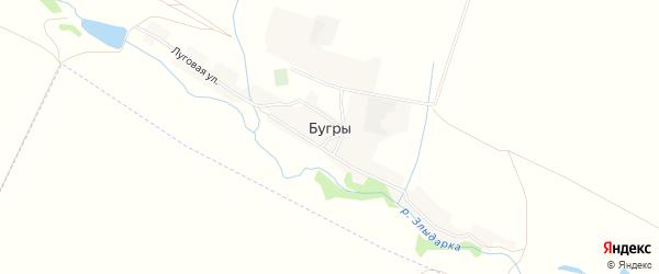 Карта поселка Бугры в Алтайском крае с улицами и номерами домов