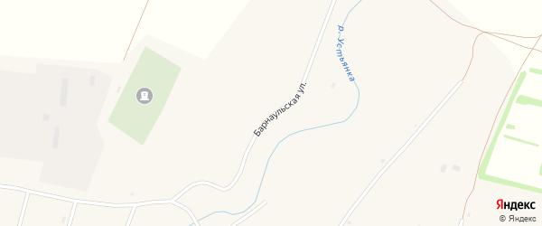 Барнаульская улица на карте села Покровки с номерами домов