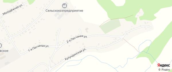 Песчаная улица на карте села Вылково с номерами домов