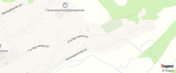 2-я Песчаная улица на карте села Вылково с номерами домов