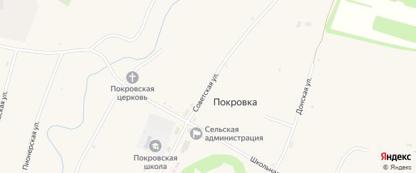 Советская улица на карте села Покровки с номерами домов
