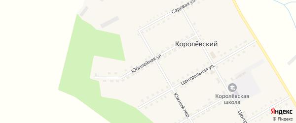 Юбилейная улица на карте Королевского поселка с номерами домов
