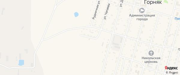 Геологический переулок на карте Горняка с номерами домов