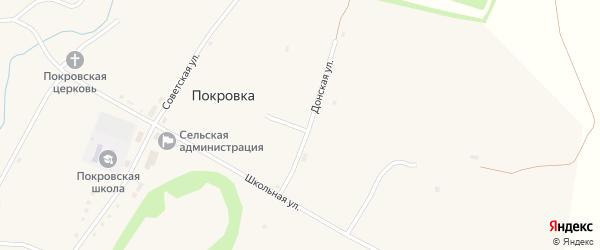 Донская улица на карте села Покровки с номерами домов