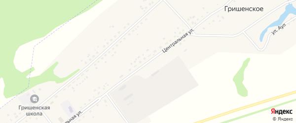 Центральная улица на карте Гришенское села с номерами домов
