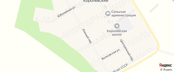 Южный переулок на карте Королевского поселка с номерами домов