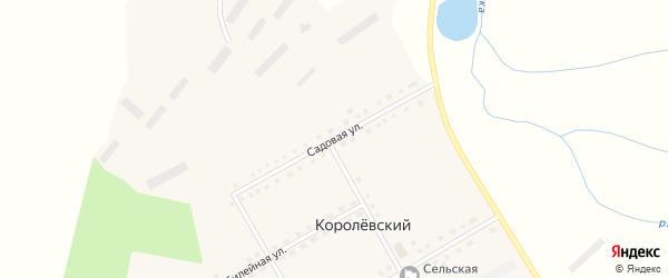 Садовая улица на карте Королевского поселка с номерами домов