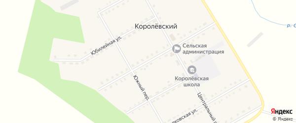 Центральная улица на карте Королевского поселка с номерами домов
