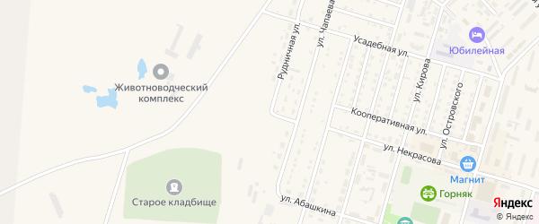 Рудничная улица на карте Горняка с номерами домов