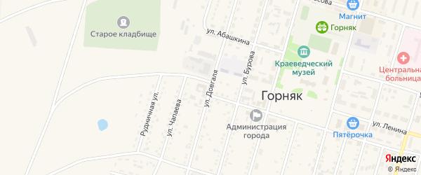 Улица Довгаля на карте Горняка с номерами домов