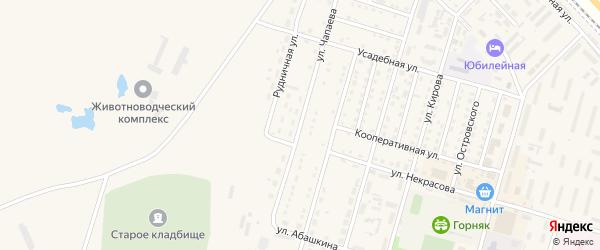 Улица Чапаева на карте Горняка с номерами домов