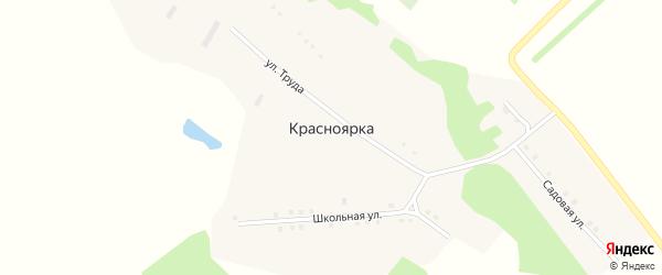 Школьная улица на карте поселка Красноярки с номерами домов