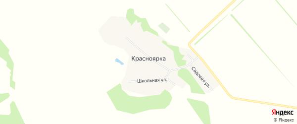 Карта поселка Красноярки в Алтайском крае с улицами и номерами домов