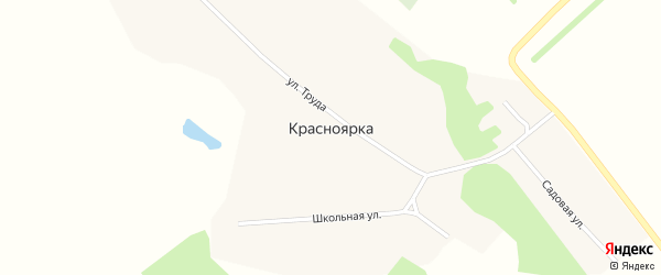 Улица Труда на карте поселка Красноярки с номерами домов