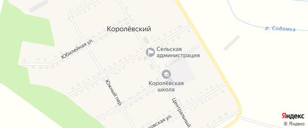 Центральный переулок на карте Королевского поселка с номерами домов