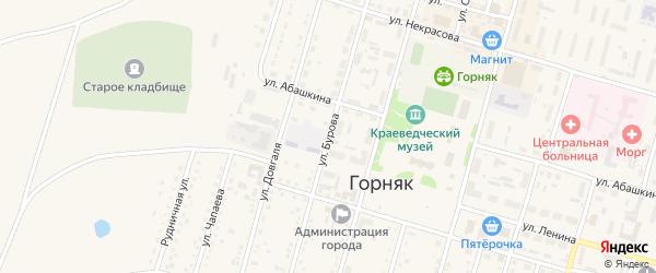 Улица Бурова на карте Горняка с номерами домов